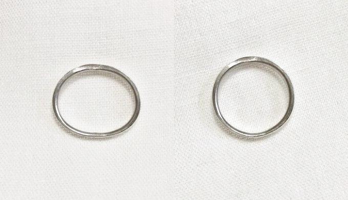 変形した指輪と修整した指輪