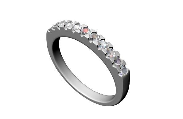 ダイヤが付いているストレートの指輪