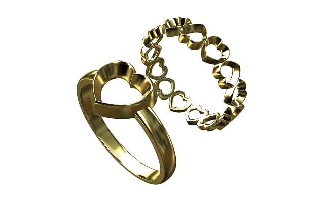 ハートモチーフの指輪