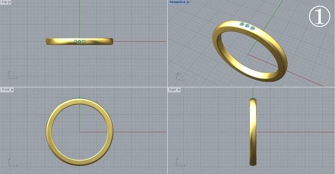 指輪の図面