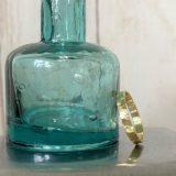 ガラス瓶と真鍮リング
