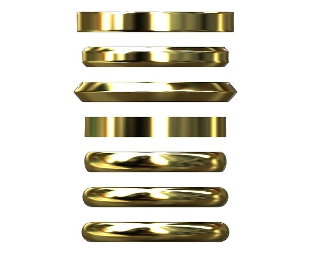 様々な形状の指輪