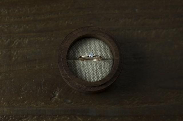 ダイヤ付きのリング