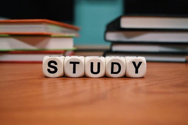 勉強と書いてあるサイコロ