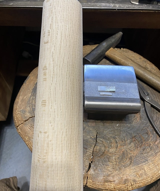 木芯棒と金床