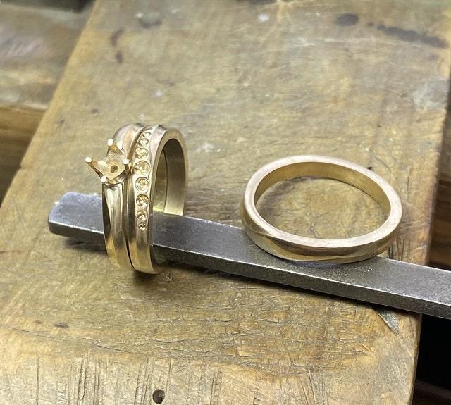 3本の真鍮の指輪