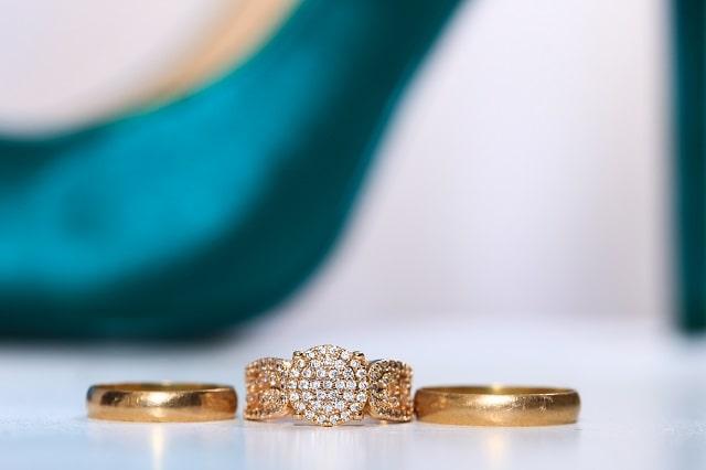 3本の金の指輪